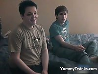 Straight teen in a gay amateur porn