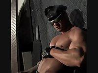 Muscle Solo Guy Masturbation