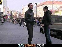 She tricks him into gay sex