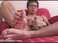 Cute asian jerk off
