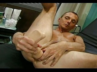 Randy Stud Stuffing Butt With Plugs