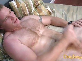Filthy Gay Beating Off Alone