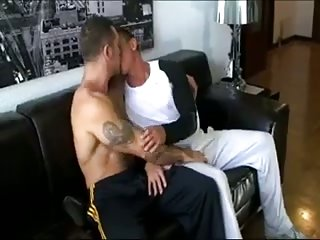 Beefy Tattooed Chaps Ass Drilling