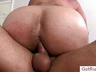 Tatooed massage pro ass fucked