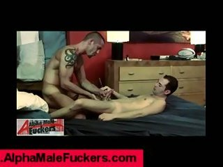 Fingering and rimming a straight guy