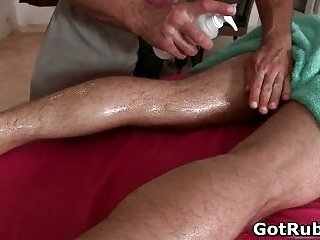 Super sexy guy gets fine body massages