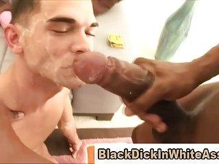 Interracial sex loving white ass takes big black cock