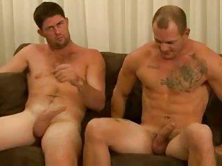 Naked Boyfriends Help Each Other