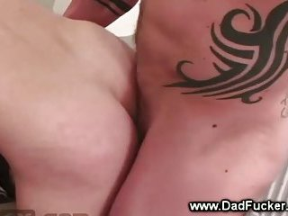 Gay muscle stuffs his ass full of beads after he licks it wet