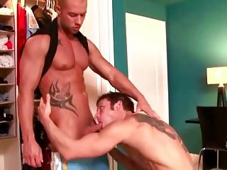 Sexy stud loves to suck a hard cock