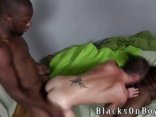 Gay twink interracial group blowjob ass fuck