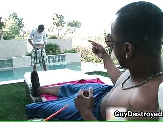 Justin gets ass fucked by fat black cock 3