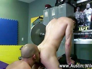Hot gay rimjob train cock sucking orgy