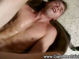 Twink takes cock in his tight ass