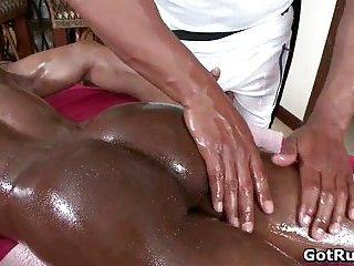 Extreme gay butt fuck after sensual erotic massage