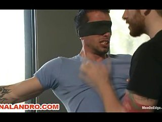 Straight stud Casey More gets Bound while his Cock is Edged