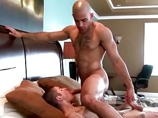 Horny hunks rims ass after getting blowjob