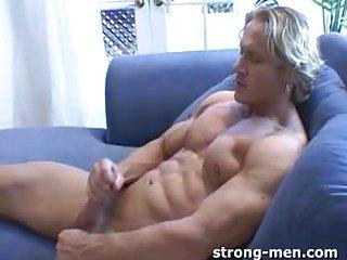 Blond Guy Solo Masturbation