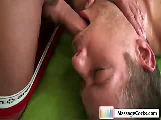 Gay mouth and ass massaged