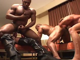 Nasty Interracial Gay Guys Group Sex