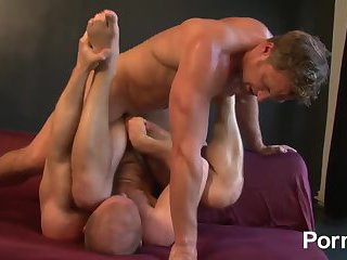 Ass fucking and cock jerking