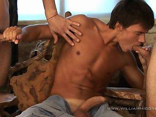 Dmitry, Artur and Erik Threeway Sex
