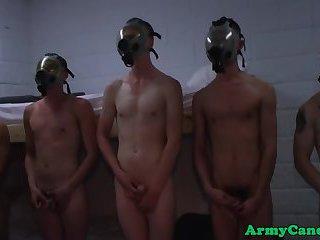 Military bottoms cumspraying rookie soldier